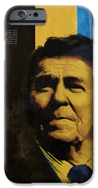 Reagan iPhone Cases - Ronald Reagan iPhone Case by Corporate Art Task Force