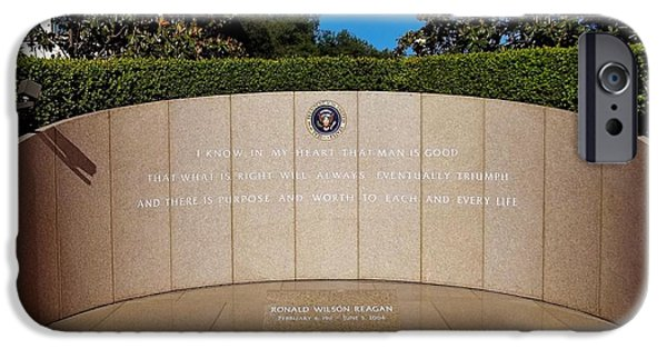 Figures iPhone Cases - Ronald Reagan Memorial Site iPhone Case by Glenn McCarthy Art and Photography