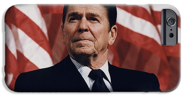 Politician Digital iPhone Cases - Ronald Reagan iPhone Case by Nomad Art And  Design