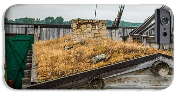 Historic Site iPhone Cases - Roof at Fort Union iPhone Case by Paul Freidlund