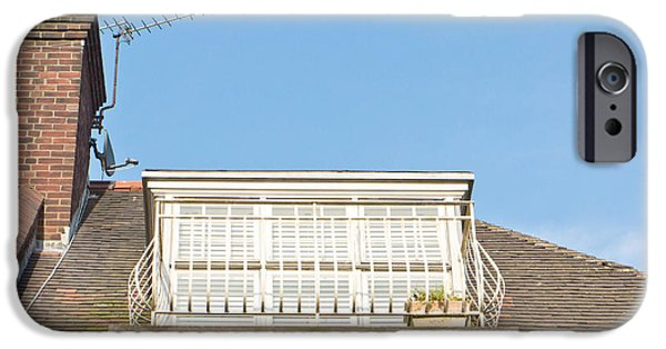 Venetian Balcony iPhone Cases - Roof balcony iPhone Case by Tom Gowanlock