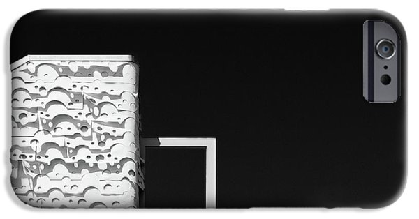 Monotone iPhone Cases - Roof Door iPhone Case by Dave Bowman