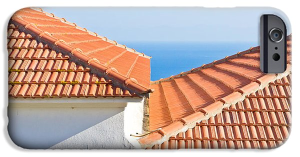 Mosaic iPhone Cases - Roof tiles iPhone Case by Tom Gowanlock