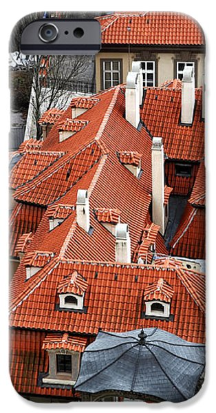 Roofs in Prague iPhone Case by John Rizzuto
