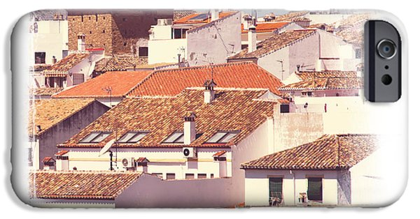 Spanish House iPhone Cases - Roofs of Ronda. Mini-Ideas for Interior Design iPhone Case by Jenny Rainbow