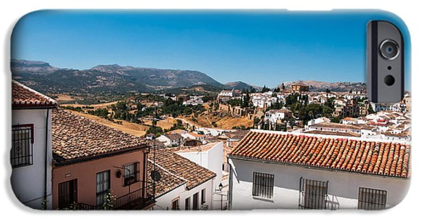 Spanish House iPhone Cases - Roofs of Ronda. Spain iPhone Case by Jenny Rainbow