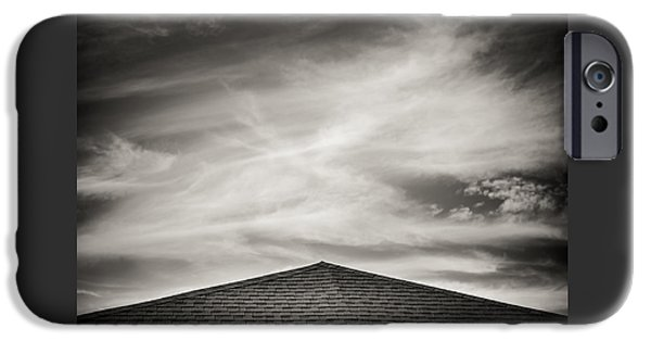 Rooftop iPhone Cases - Rooftop Sky iPhone Case by Darryl Dalton