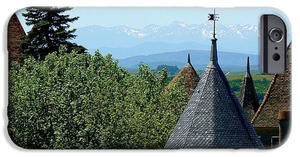 Cathar Country iPhone Cases - Rooftops of Carcassonne iPhone Case by France  Art