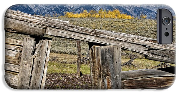 Log Cabin Digital iPhone Cases - Room with a View iPhone Case by Kathleen Bishop