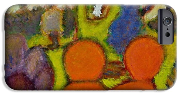 """indoor"" Still Life Paintings iPhone Cases - Room with Chairs iPhone Case by Chiho Yoshikawa"