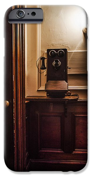 Franklin Roosevelt iPhone Cases - Roosevelts Phone - Hyde Park NY iPhone Case by Bill Cannon