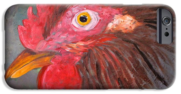 Business iPhone Cases - Rooster iPhone Case by Nancy Merkle
