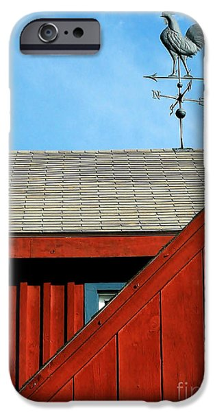 Weathervane Photographs iPhone Cases - Rooster Weathervane iPhone Case by Sabrina L Ryan