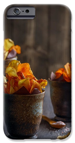 Chip iPhone Cases - Root Vegetable Crisps iPhone Case by Amanda And Christopher Elwell