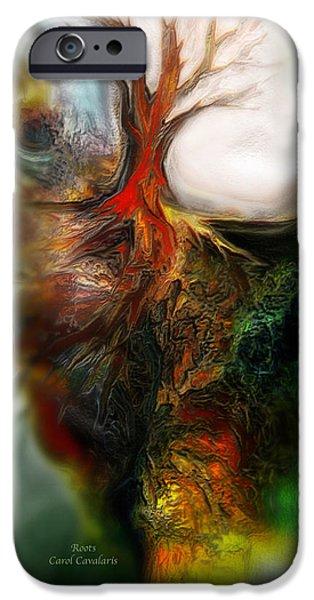 Roots iPhone Case by Carol Cavalaris