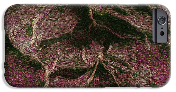 R. Mclellan Photography iPhone Cases - Roots of Fantasy iPhone Case by R McLellan