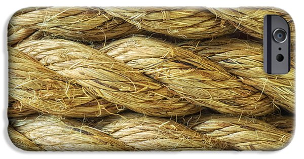 Rope iPhone Cases - Rope Background Texture iPhone Case by Amanda And Christopher Elwell