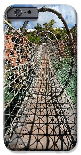 Atlantis iPhone Cases - Rope Bridge Atlantis Resort iPhone Case by Amy Cicconi