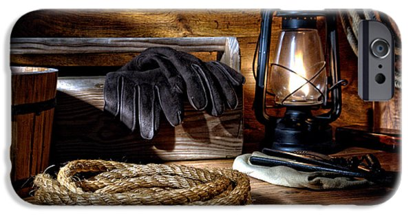 Gear iPhone Cases - Rope in the Ranch Barn iPhone Case by Olivier Le Queinec
