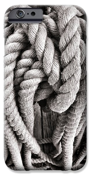 Rope iPhone Cases - Rope iPhone Case by Olivier Le Queinec
