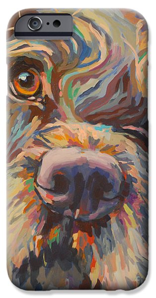 Chocolate Lab iPhone Cases - Rory iPhone Case by Kimberly Santini