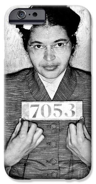 Politics iPhone Cases - Rosa Parks iPhone Case by Unknown
