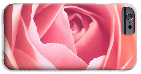 Pink Roses iPhone Cases - Rosa iPhone Case by Wim Lanclus