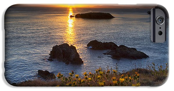 Headland iPhone Cases - Rosario Head Sunset iPhone Case by Mark Kiver