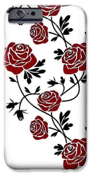 Vinil iPhone Cases - Rosas  iPhone Case by Riccardo Zullian