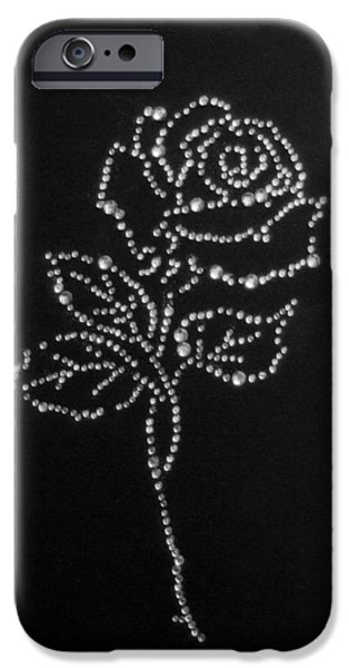 Stone Glass Art iPhone Cases - Rose iPhone Case by Adrian Muka