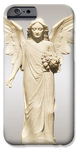 In Attendance iPhone Cases - Rose Angel iPhone Case by Josephine Cohn