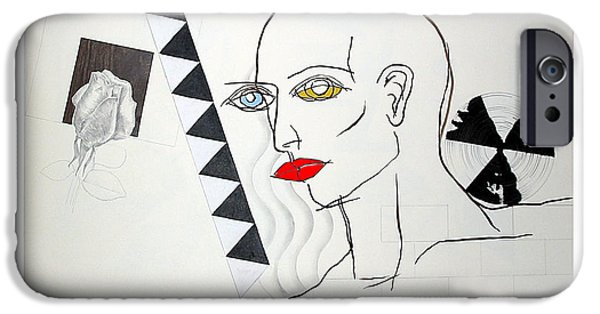 Lips iPhone Cases - Rose Beauty Spins iPhone Case by John Castell