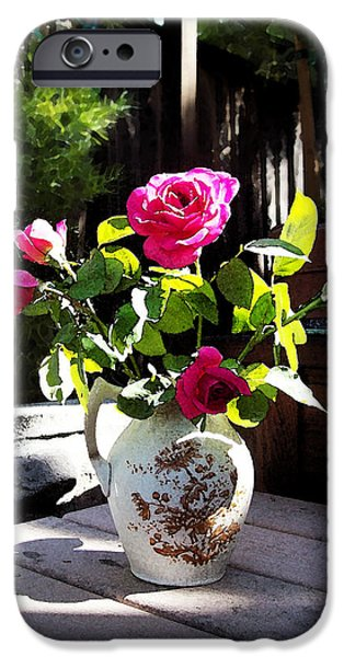 Green Roses iPhone Cases - Rose Bouquet iPhone Case by Irina Sztukowski
