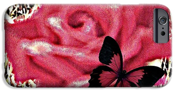 Matting iPhone Cases - Rose By Any Other Name iPhone Case by Bobbee Rickard