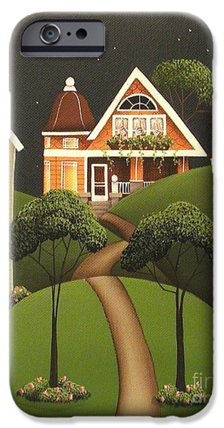 Rose Hill Lane iPhone Case by Catherine Holman
