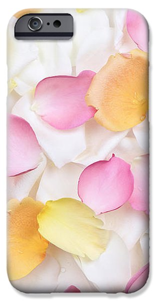 Rose petals background iPhone Case by Elena Elisseeva