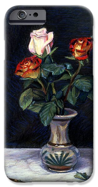 Best Sellers -  - Business Pastels iPhone Cases - Rose iPhone Case by Kenneth Cobb