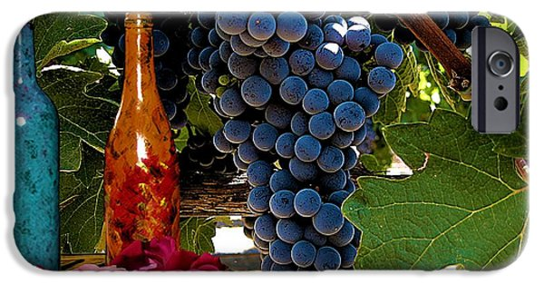 Table Wine iPhone Cases - Rose Wine iPhone Case by Bobby Blanton