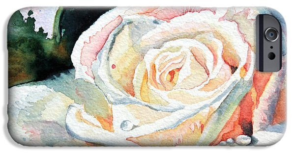Cambridge Paintings iPhone Cases - Roses 6 iPhone Case by Hanne Lore Koehler