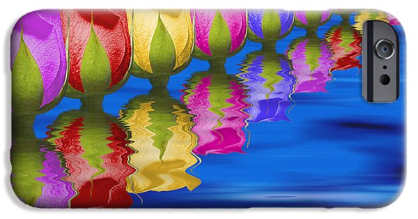 Montage iPhone Cases - Roses Floating iPhone Case by Tom Mc Nemar