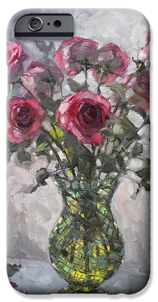 Rose iPhone Cases - Roses for Viola 2 iPhone Case by Ylli Haruni