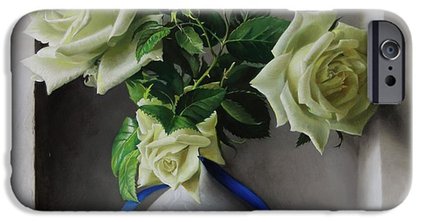 Rose iPhone Cases - roses in 3D iPhone Case by Pieter Wagemans