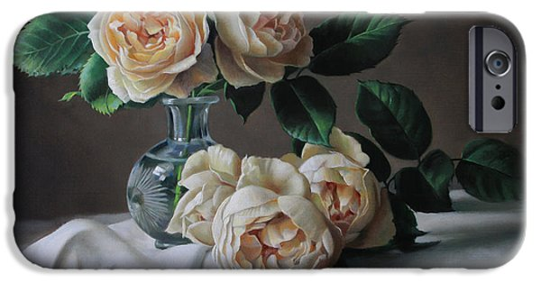 Rose iPhone Cases - roses Marie Antoinette iPhone Case by Pieter Wagemans