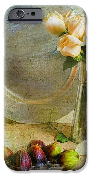 Roses with Figs iPhone Case by Diana Angstadt