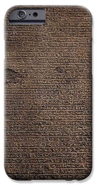 Texture iPhone Cases - Rosetta Stone Texture iPhone Case by Gina Dsgn