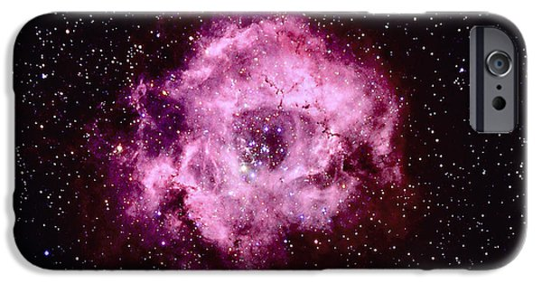 Constellations iPhone Cases - Rosette Nebula In Monoceros iPhone Case by John Chumack