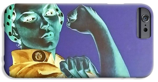 War iPhone Cases - ROSIE in NEGATIVE iPhone Case by Rob Hans