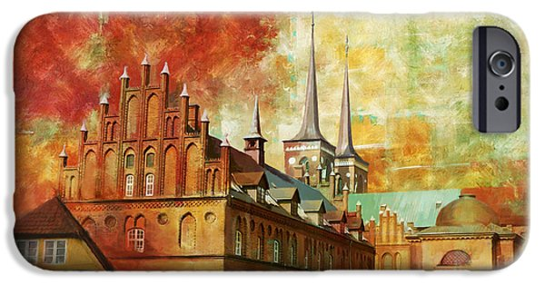 Denmark iPhone Cases - Roskilde Cathedral iPhone Case by Catf