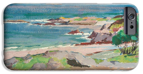 Twentieth Century iPhone Cases - Ross of Mull from Traigh Mhor iPhone Case by Francis Campbell Boileau Cadell