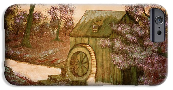 Bob Ross Paintings iPhone Cases - Rosss Watermill iPhone Case by Barbara Griffin